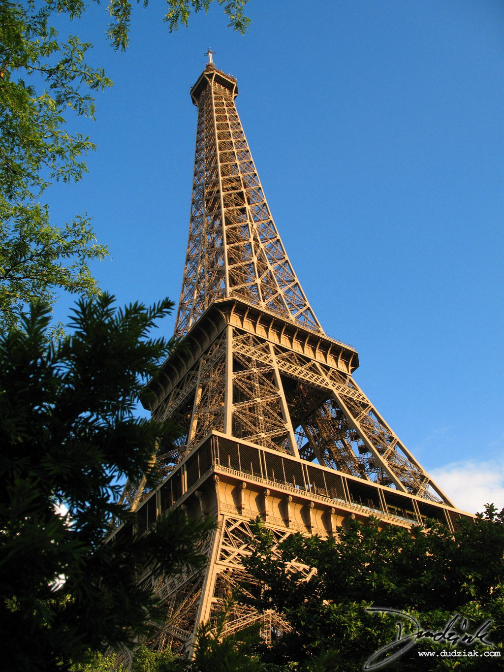 Eiffel Tower,  Trees,  Blue Sky