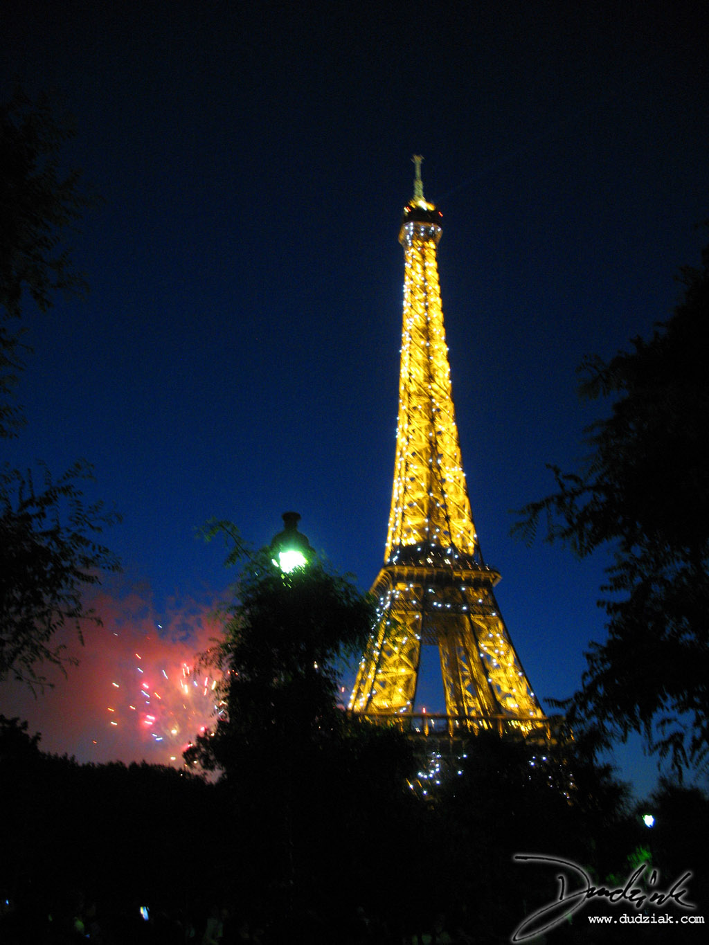 Fireworks,  Bastille Day,  Eiffel Tower,  Night,  Paris France