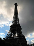 Eiffel Tower with Ominous Cloud