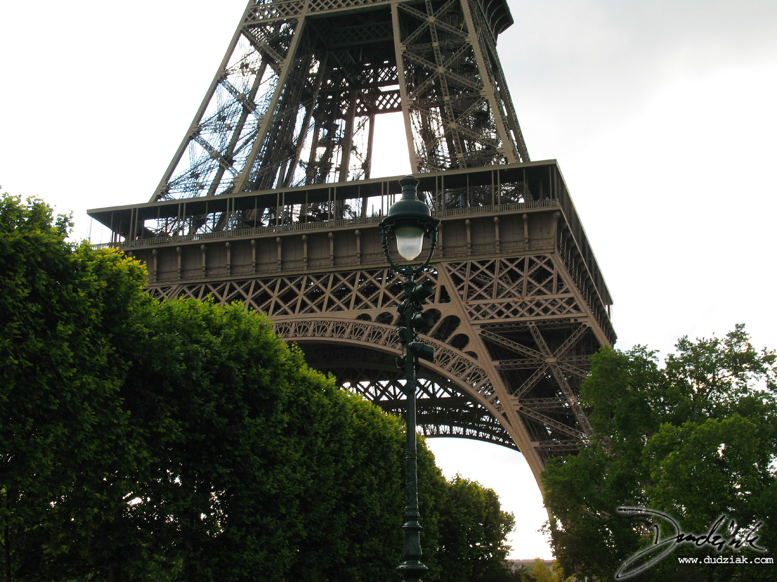 Eiffel Tower,  First Level,  Paris France,  Middle of the Eiffel Tower