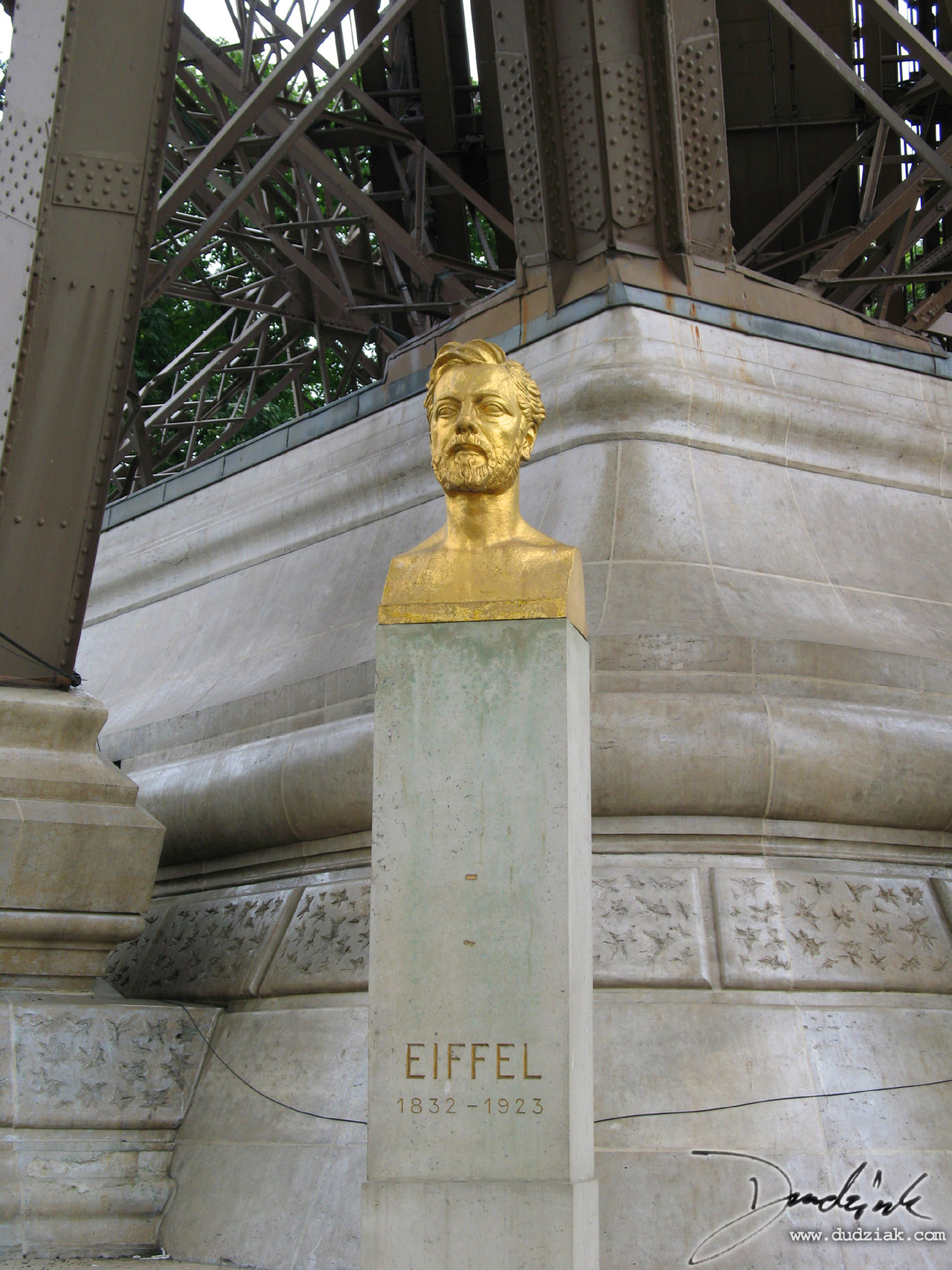 Eiffel Tower,  Pier,  Paris France,  Bust,  Gustave Eiffel