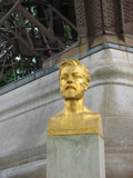 Gustave Eiffel Bust Located at the North Pier of the Eiffel Tower