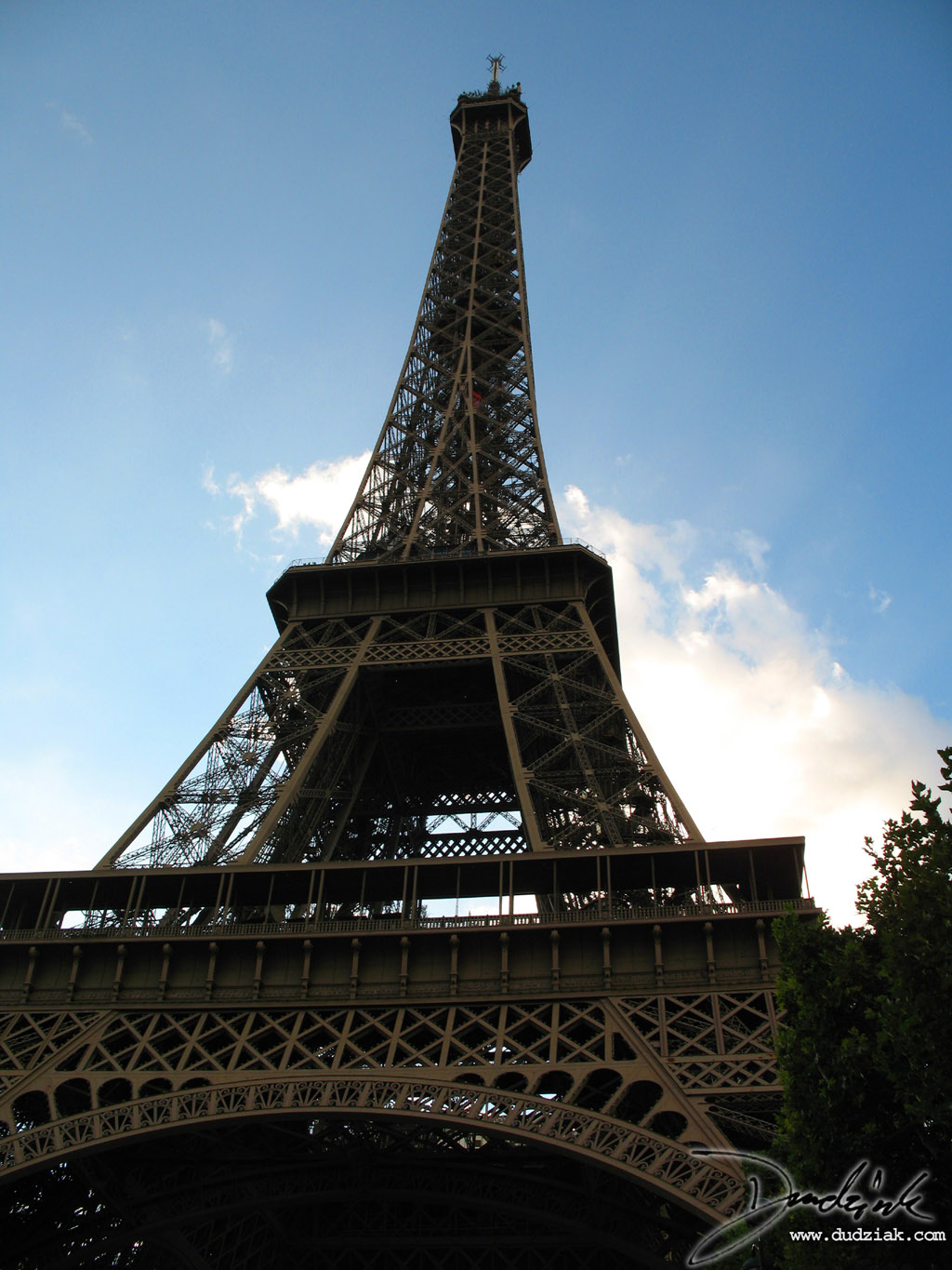 Eiffel Tower,  Tour Eiffel,  Blue Sky,  Paris France