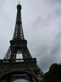Overcast Eiffel Tower