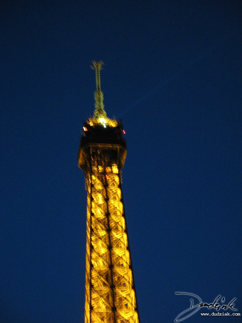 Lighted,  Eiffel Tower,  Paris France,  Night
