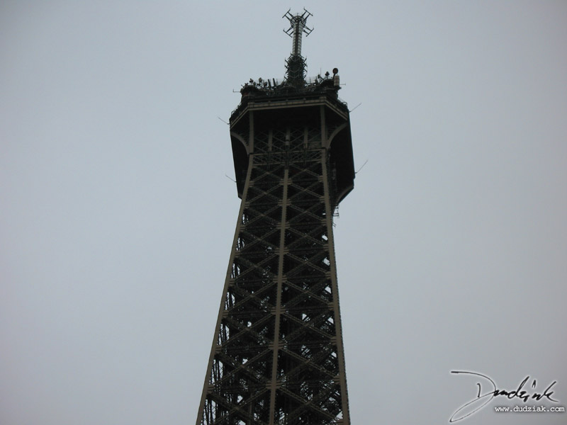 Paris France,  Eiffel Tower top,  Tour Eiffel