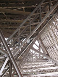 Steel Bars Underneath First Level of the Eiffel Tower
