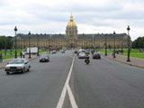 Les Invalides from Avenue de General Galland