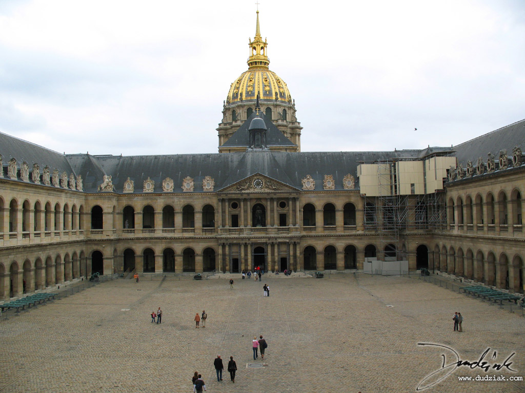 Military Museum,  courtyard,  Les Invalides,  Paris France