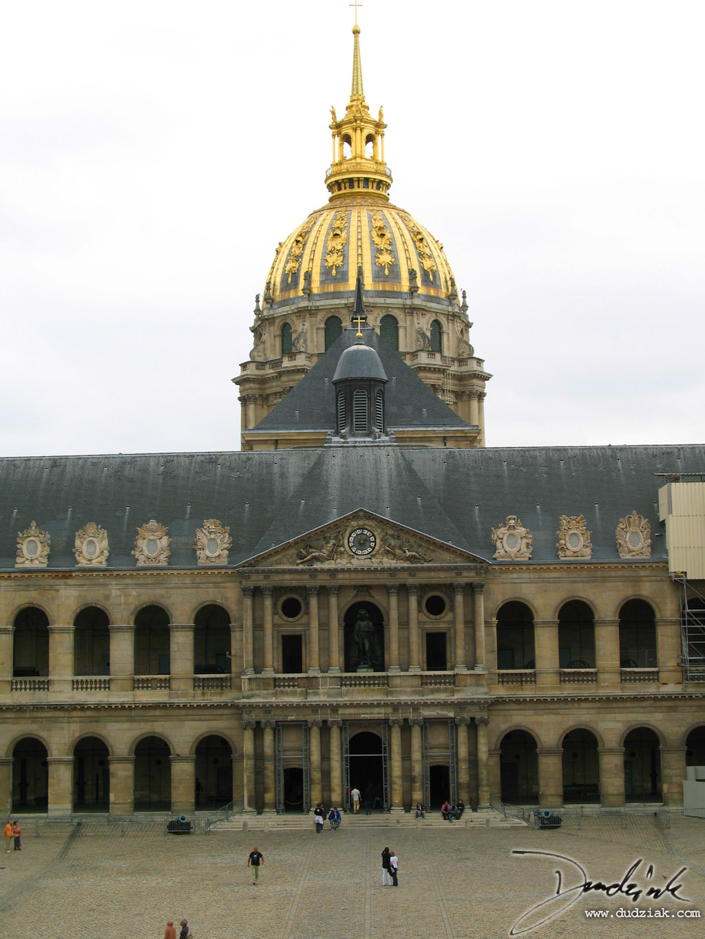 Paris France,  courtyard,  Les Invalides,  Military Museum