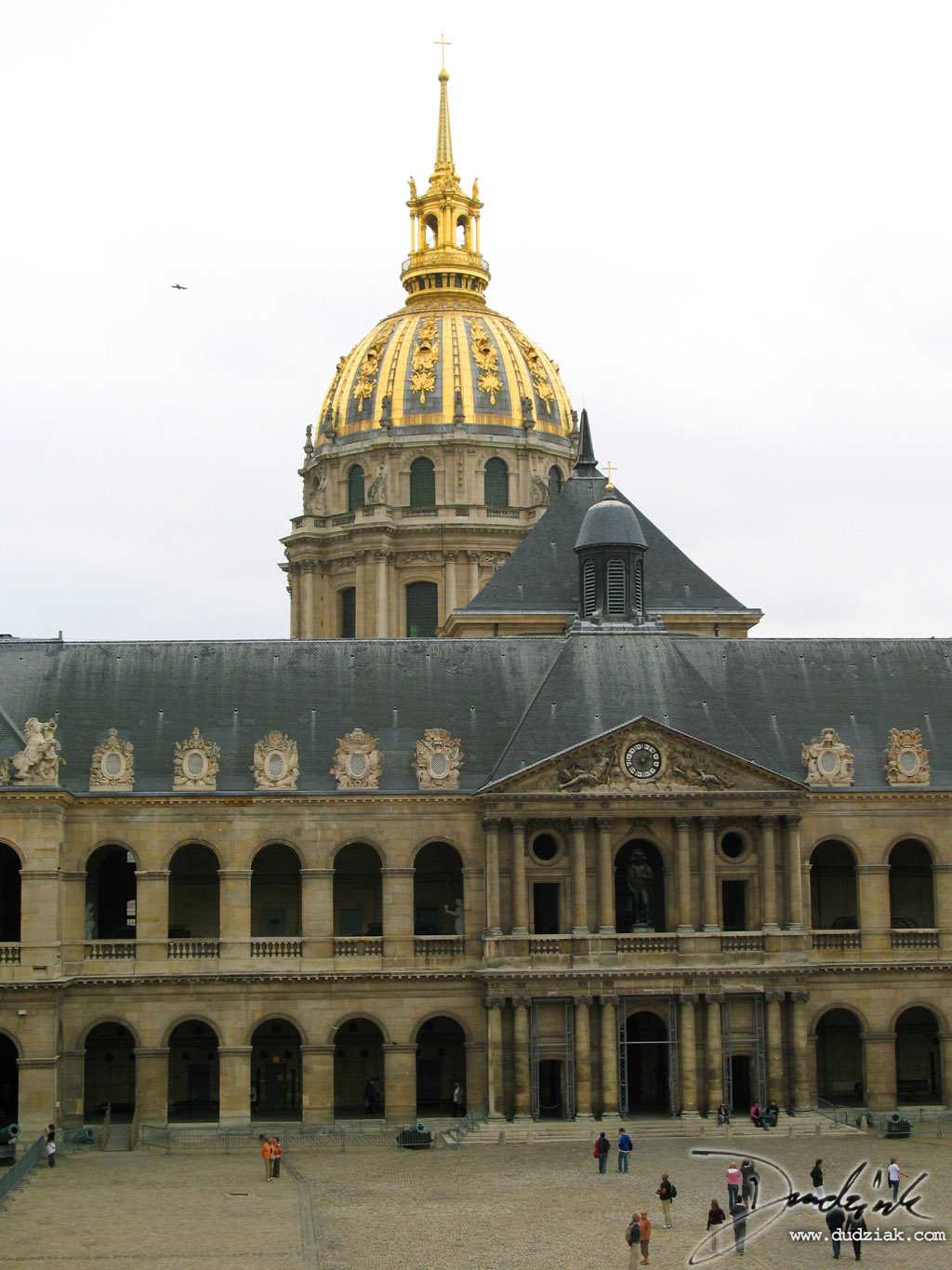 Military Museum,  Les Invalides,  courtyard,  Paris France