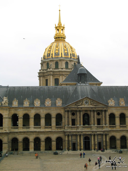 Les Invalides,  Military Museum,  courtyard,  Paris France