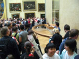 Crowd in Front of the Mona Lisa