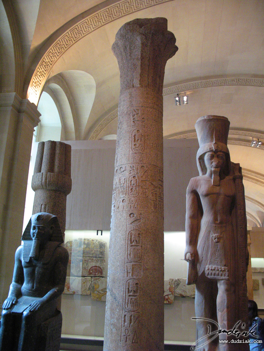 paris,  column,  louvre museum,  louvre,  Egyptian Column,  Heiroglyphs