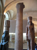 Egyptian Column in the Louvre, Louvre Museum
