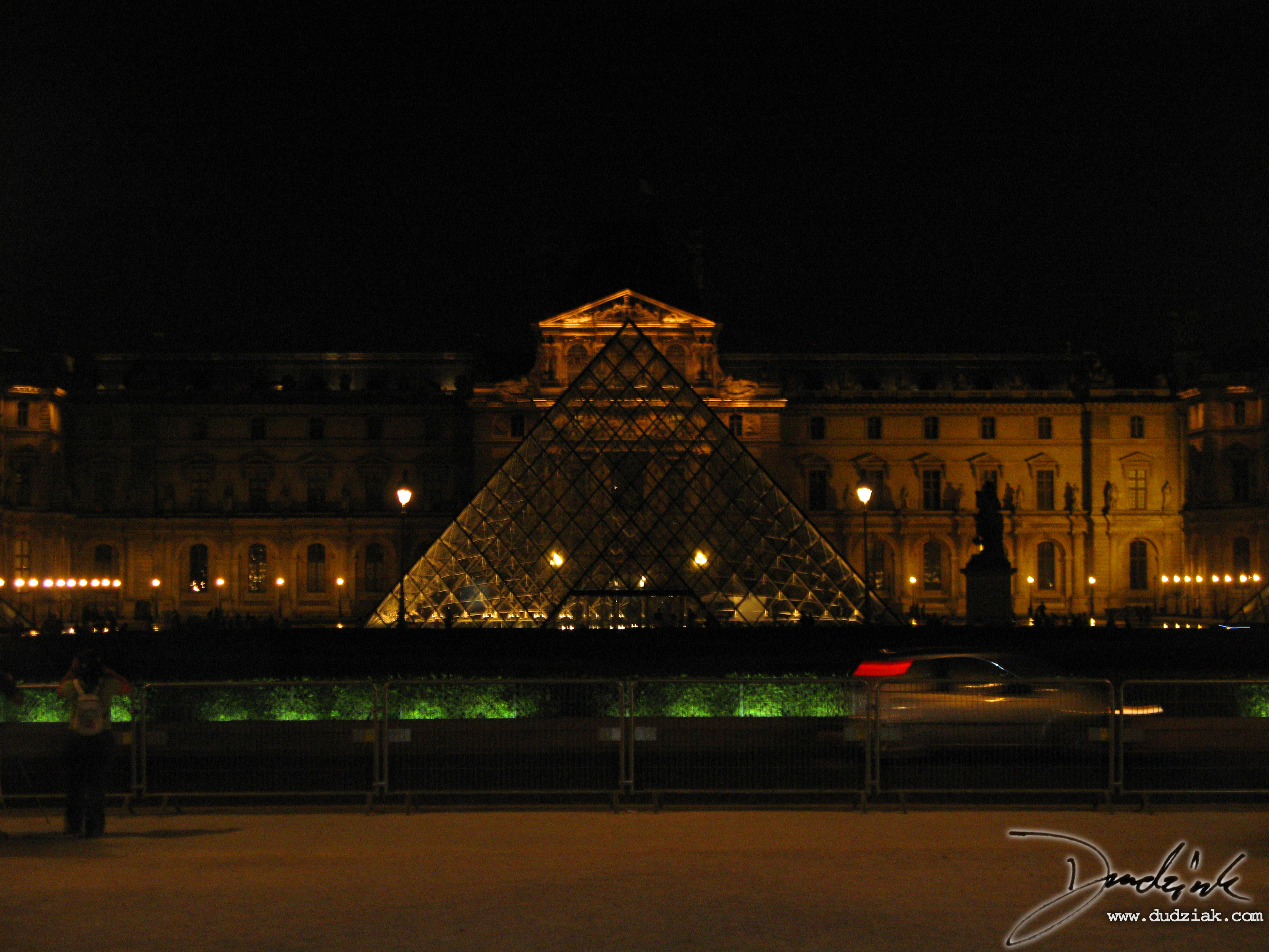 Louvre at Night,  France,  Paris,  Musee du Louvre