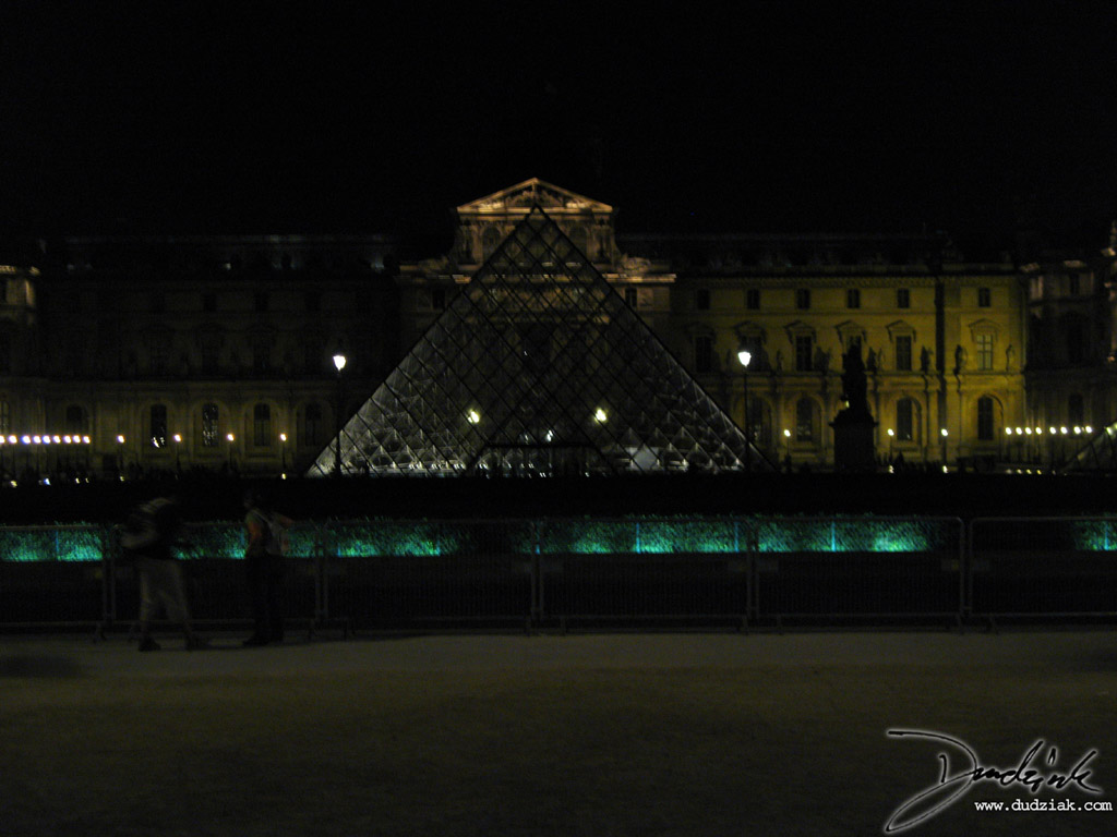 France,  Louvre at Night,  Musee du Louvre,  Paris