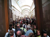 Louvre Museum Packed with People