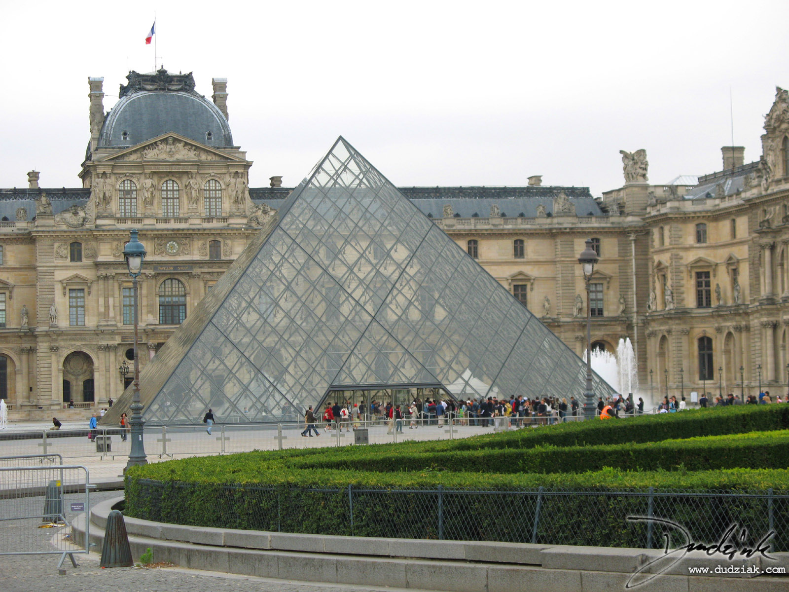 Picture of the Louvre pyramid in Paris, France
