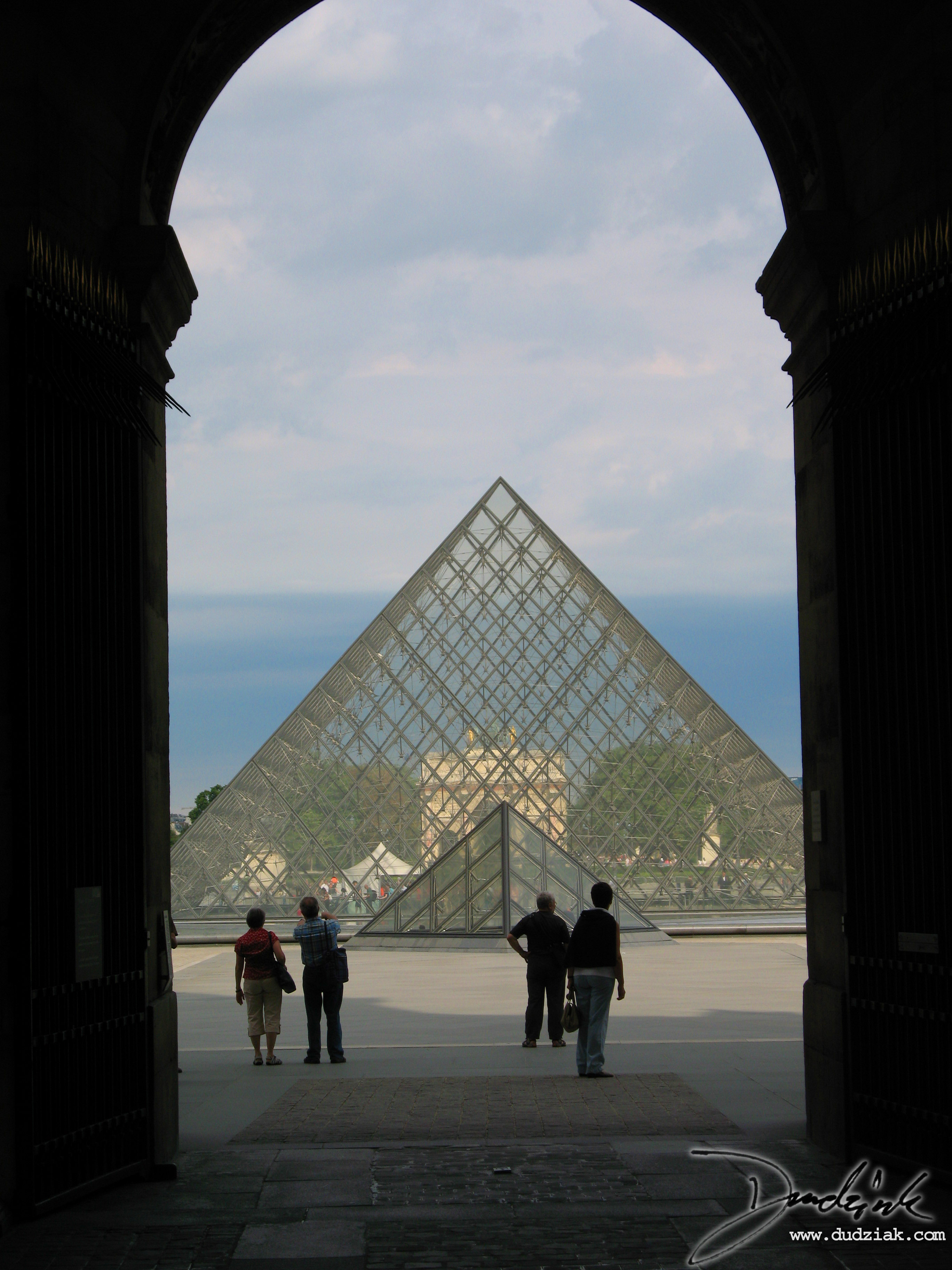 Paris,  Louvre Pyramid,  Musee du Louvre,  France