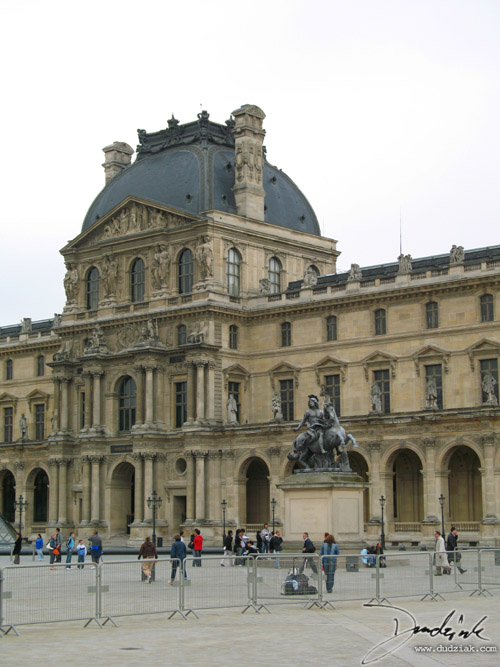 Picture of one of the wings of the Louvre Museum in Paris, France