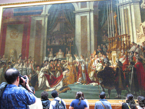 painting,  napoleon,  Napoleon's Corination,  France,  Musee du Louvre,  Paris,  corination,  Louvre Museum