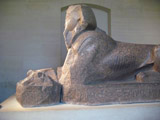 Sphinx in the Louvre, Side view