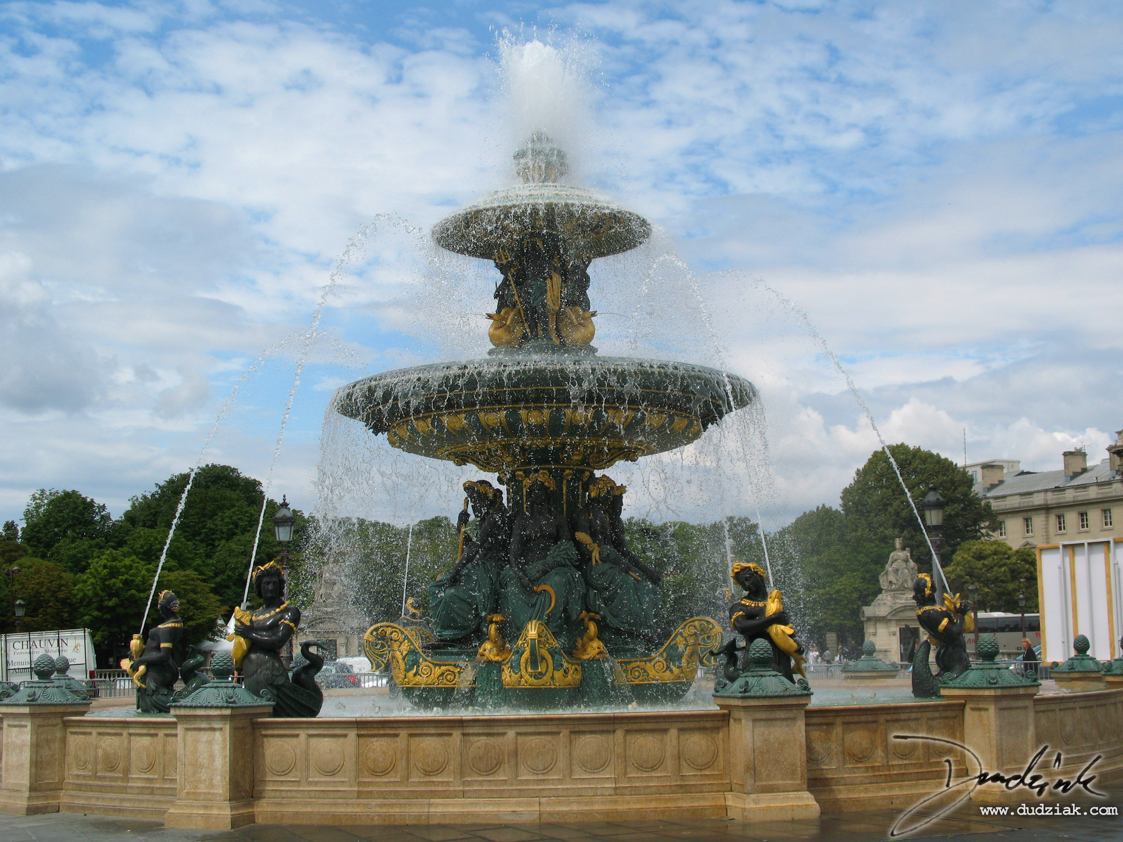 Place de la Concorde,  Fountain,  Paris,  France