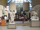 Sculptures inside the Musée d'Orsay