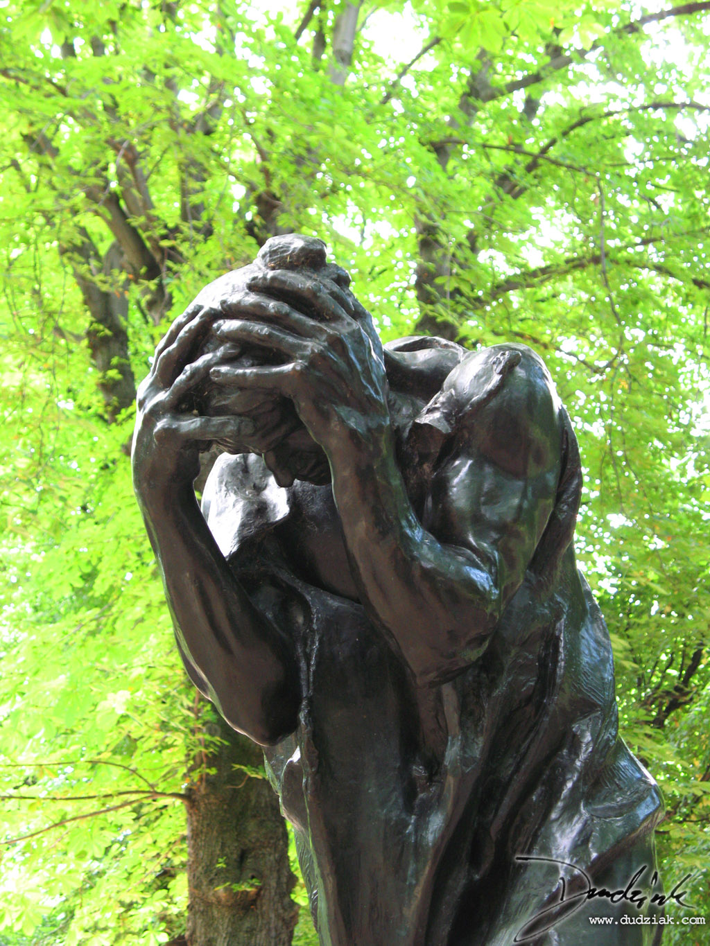 "Picture of ""Andrieu d'Andres"" sculpture by Rodin in the Rodin Museum (Musee Rodin) in Paris, France."