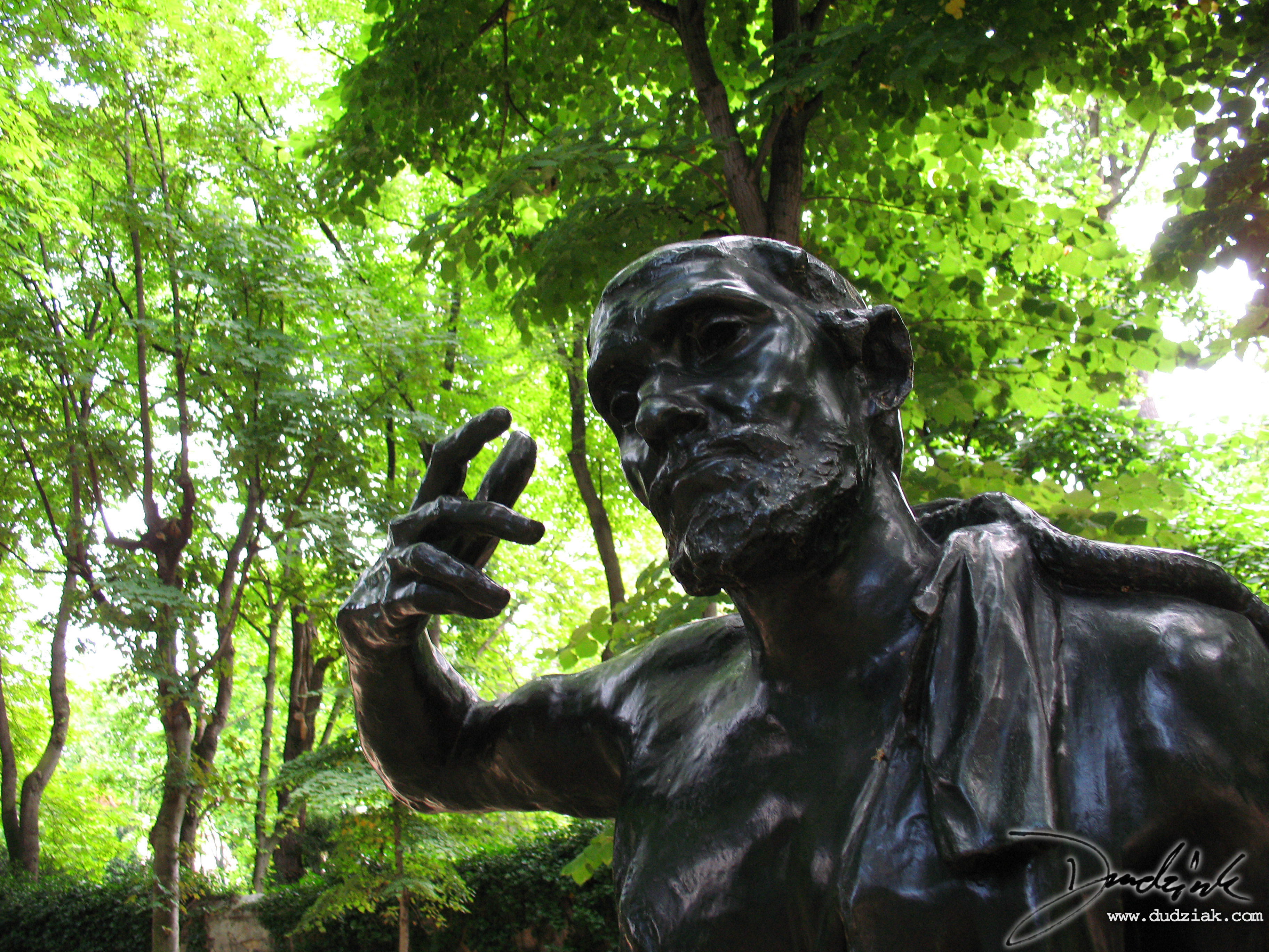 "Picture of ""Jacques de Wissant"" sculpture by Rodin in the Rodin Museum (Musee Rodin) in Paris, France."
