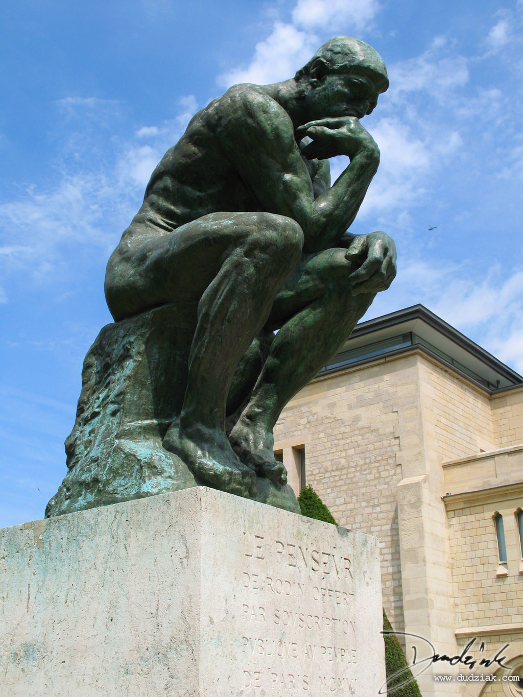 "Picture of ""The Thinker"" (le Penseur) sculpture by Rodin in the Rodin Museum (Musee Rodin) in Paris, France."