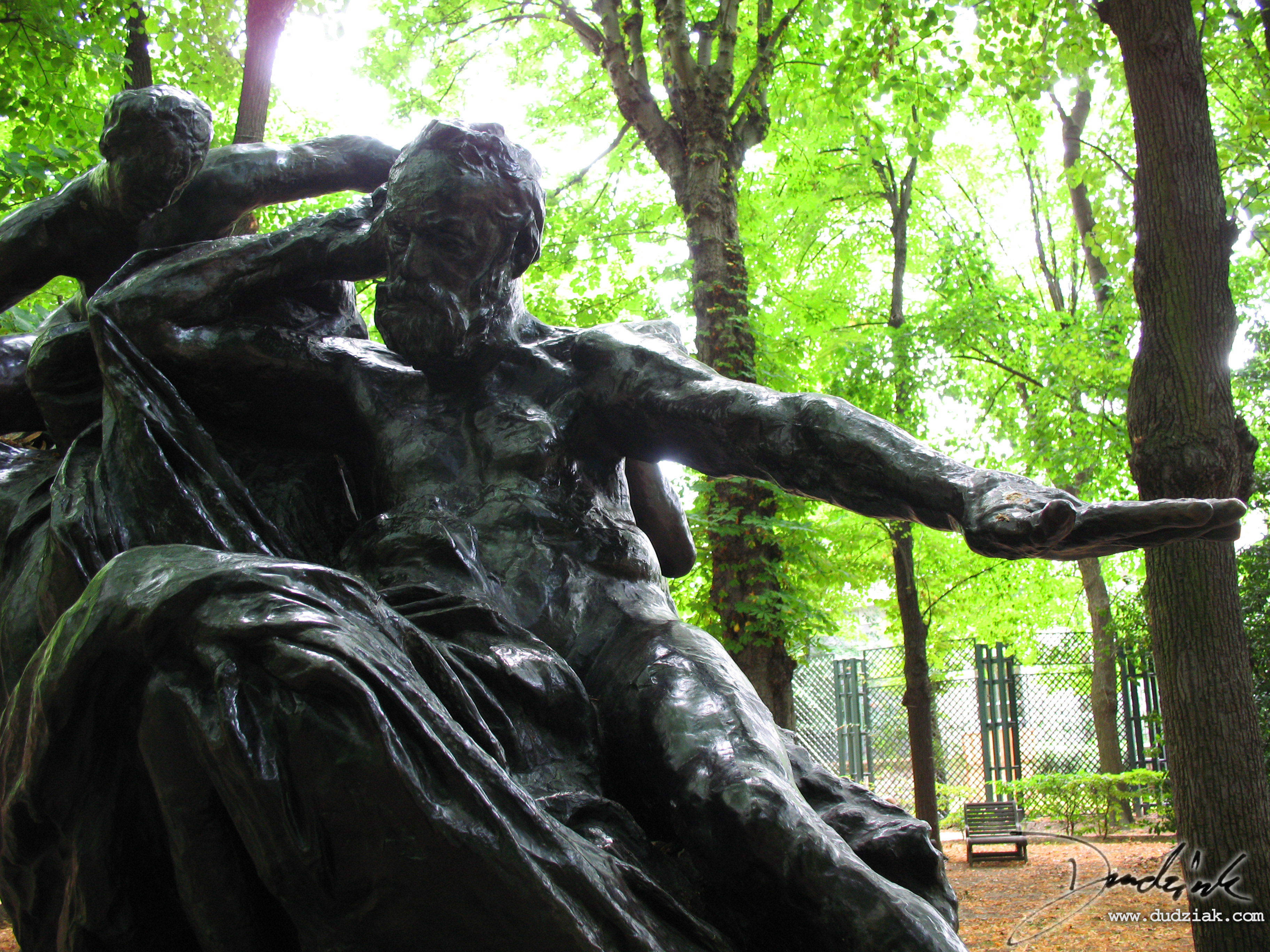 "Picture of ""Monument to Victor Hugo"" sculpture by Rodin in the Rodin Museum (Musee Rodin) in Paris, France."
