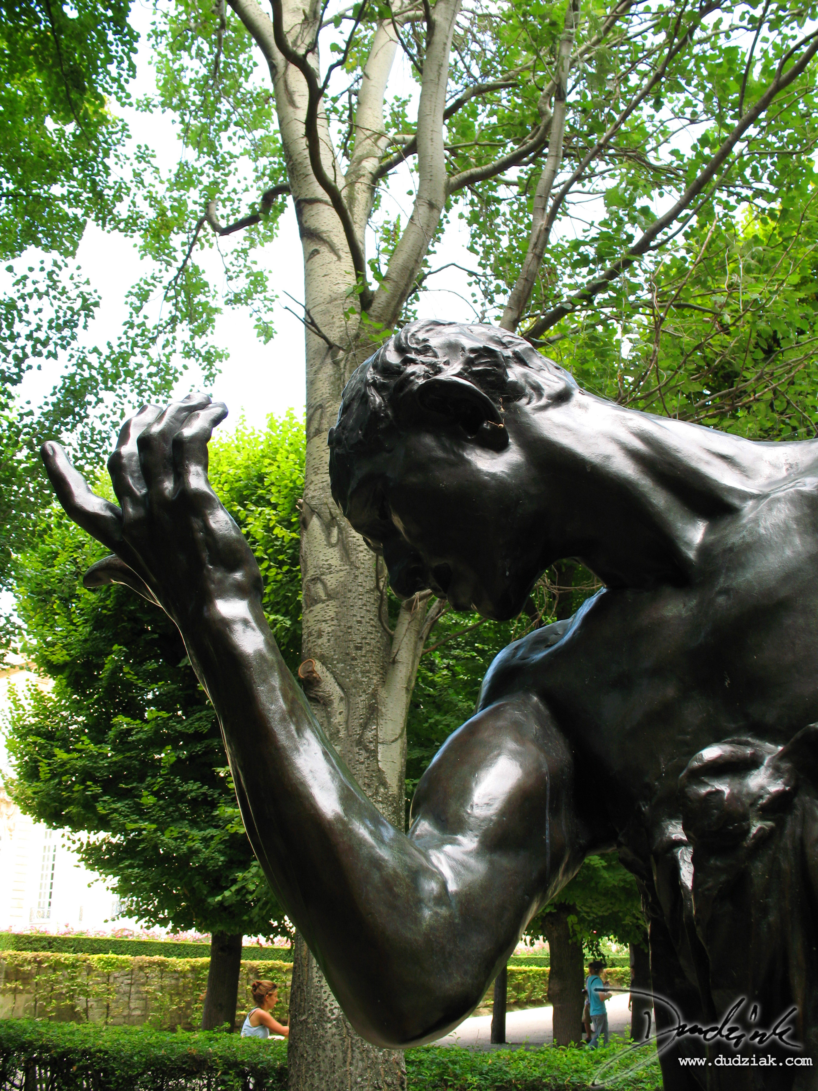 "Picture of ""Pierre de Wissant"" sculpture by Rodin in the Rodin Museum (Musee Rodin) in Paris, France."