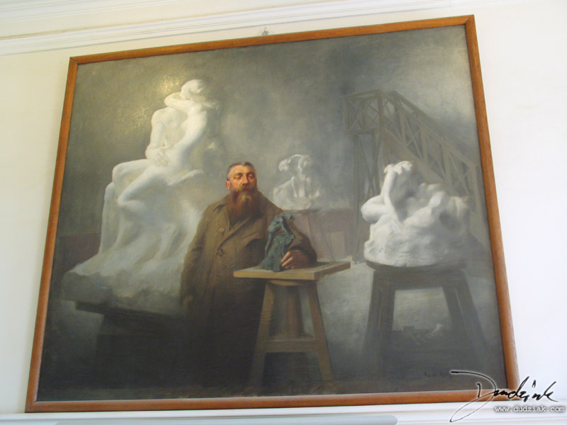 Picture of a painting of Rodin in the Rodin Museum (Musee Rodin) in Paris, France.