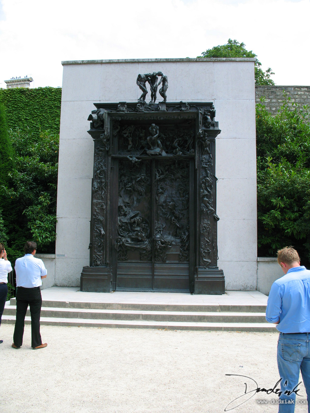 "Picture of ""The Gates of Hell"" (La Porte de l'Enfer) sculpture by Rodin in the Rodin Museum (Musee Rodin) in Paris, France."