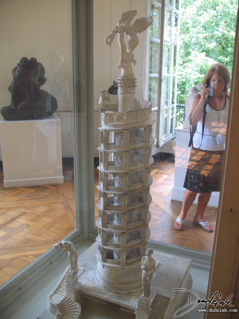 "Picture of ""The Tower of Labour"" sculpture by Rodin in the Rodin Museum (Musee Rodin) in Paris, France."