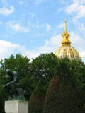 The Thinker and the Dome of Les Invalides