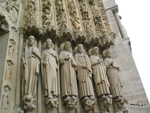 Paris,  Notre Dame,  Christian Apostles,  Notre Dame Cathedral,  France