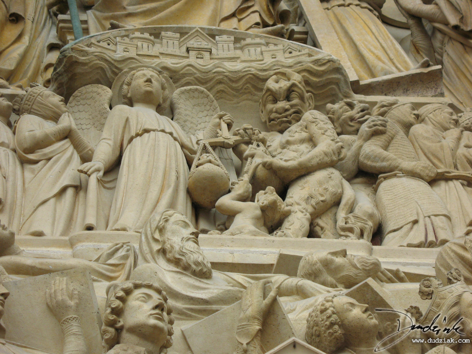 Final Judgment,  Tympanum,  Paris,  France,  Notre Dame Cathedral,  Notre Dame