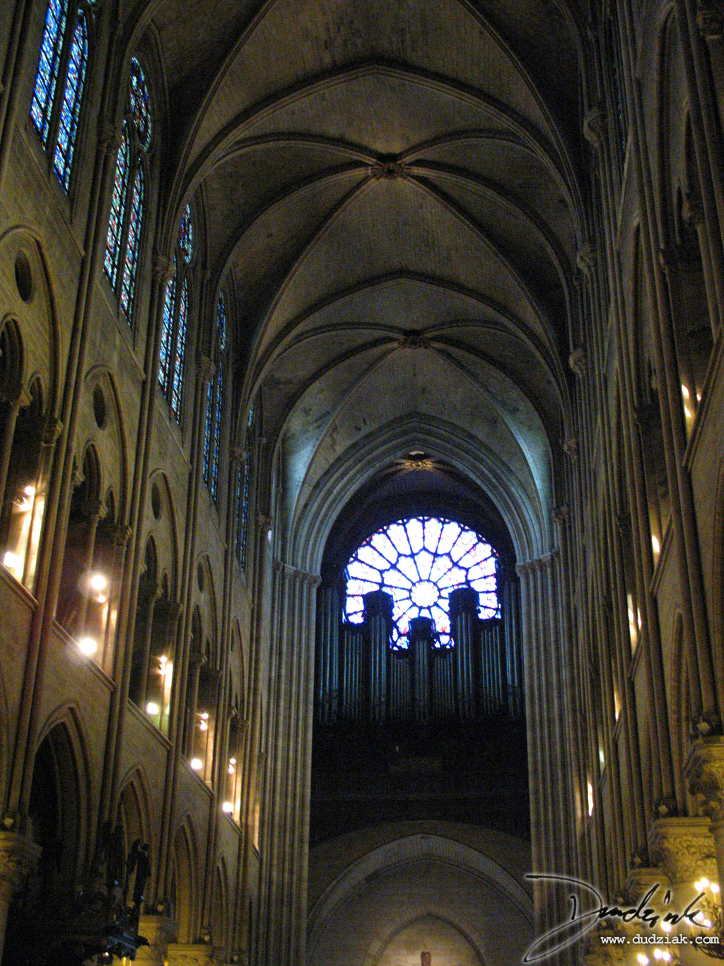 Gothic Arch,  Notre Dame Cathedral,  Paris,  France,  Notre Dame
