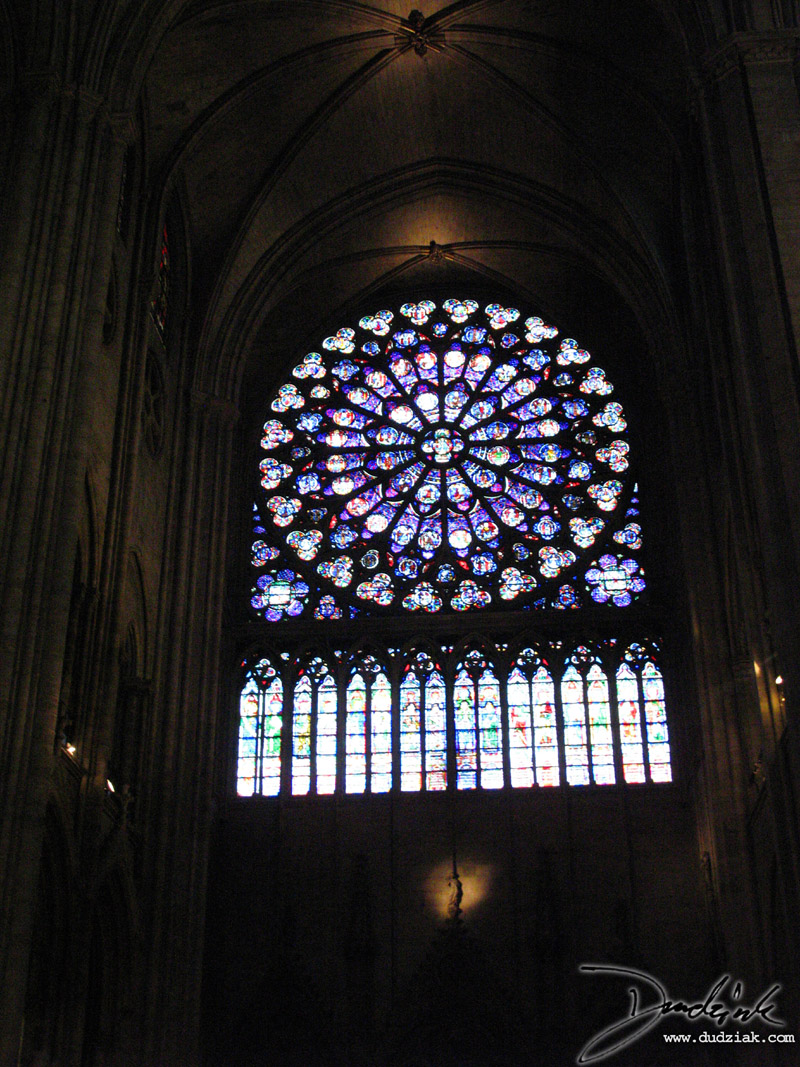 Rose Window,  Notre Dame,  France,  Paris,  Notre Dame Cathedral