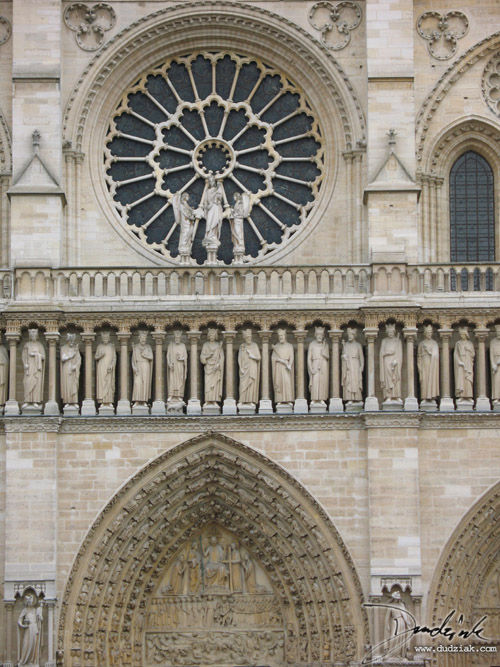 Christian Saints,  Rose Window,  France,  Notre Dame Cathedral,  Paris,  Notre Dame