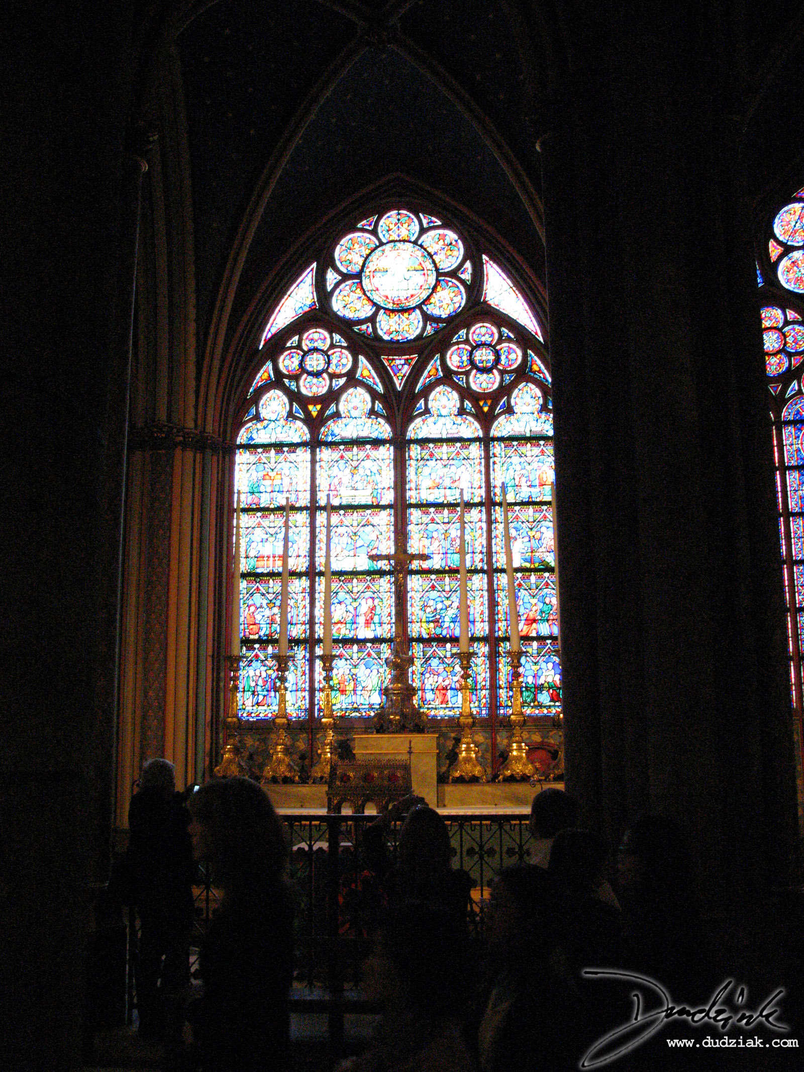 Notre Dame,  Notre Dame Cathedral,  France,  Paris,  Stained-Glass Window