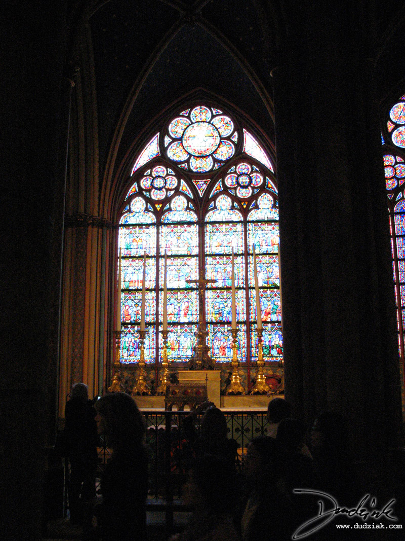 Notre Dame,  Paris,  Stained-Glass Window,  Notre Dame Cathedral,  France