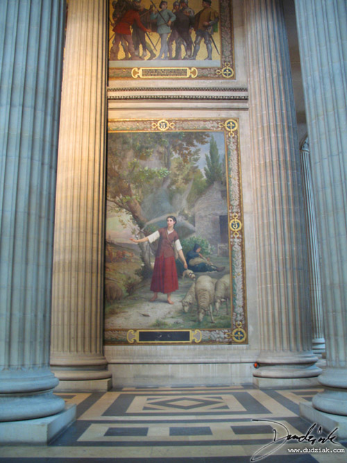 Picture of the first section of the Joan of Arc Mural within the Paris Pantheon.