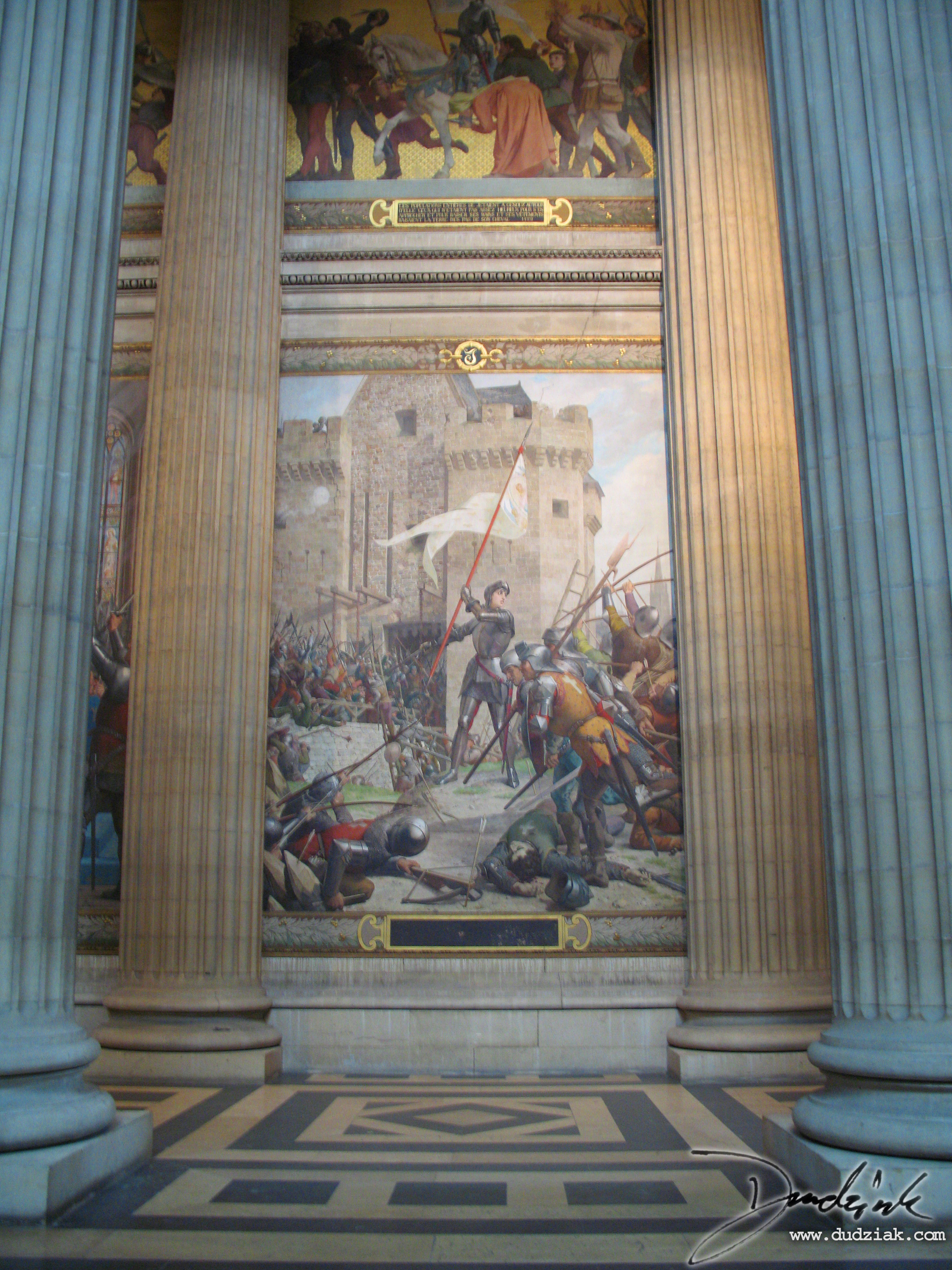 Picture of the second section of the Joan of Arc Mural within the Paris Pantheon.