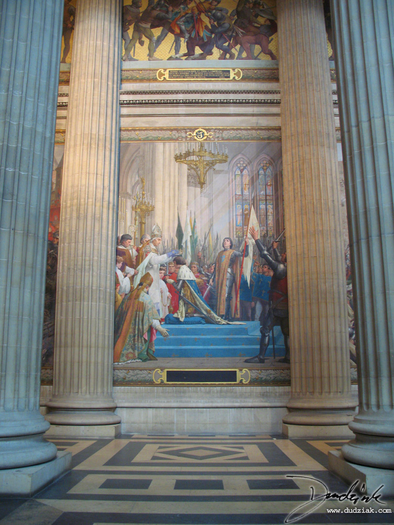Picture of the third section of the Joan of Arc Mural within the Paris Pantheon.