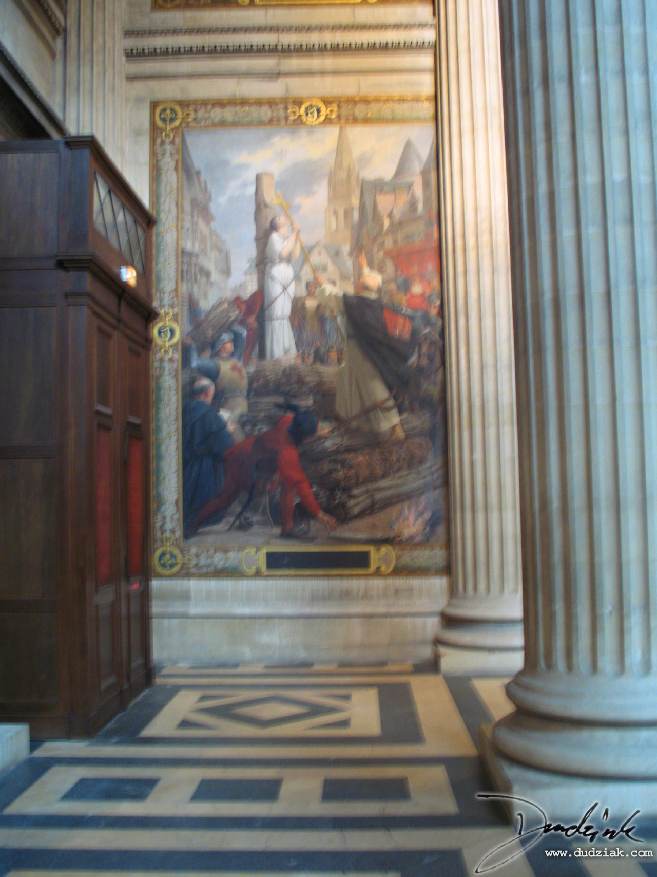 Picture of the fourth section of the Joan of Arc Mural within the Paris Pantheon.