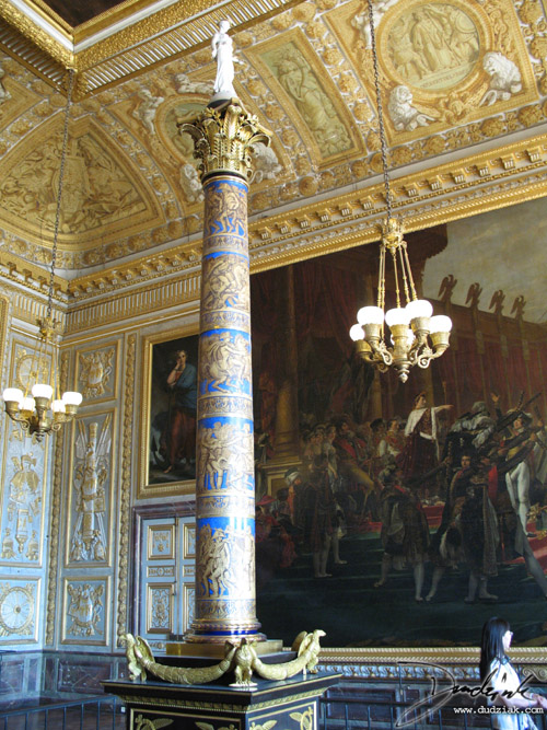 Coronation Room Column,  Ch�teau de Versailles,  Palace of Versailles